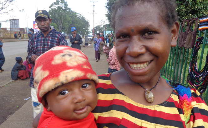 PNG mother and baby