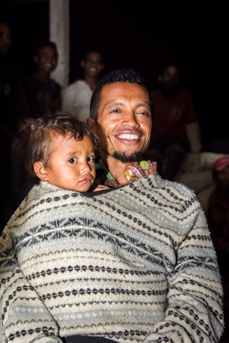 Timor man and baby